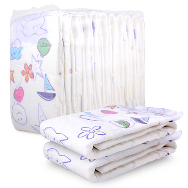 Cushies Breathable Adult Baby Diaper Fun Pack