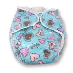 Hearts All-In-One Diaper