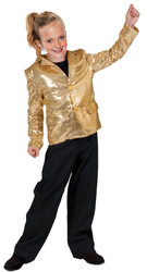 Disco Jacket Gold Child Large