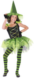 Ballerina Witch Green Chld Lg
