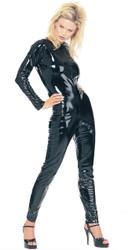 Kittysuit Leatherlike Blk Lg