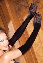 Gloves Opera Length Black