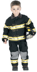 Fire Fighter Chld Blk Sm W Hat