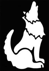 Stencil Coyote Brass