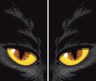 Yellow Eyed Cat Window Poster