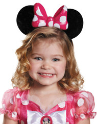 Minnie Pink Lite Up Child Ears