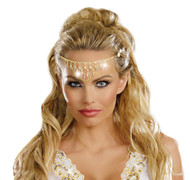 Headpiece Gold Glittering Rhin