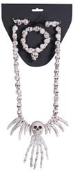 Necklace Bracelet Combo-skulls