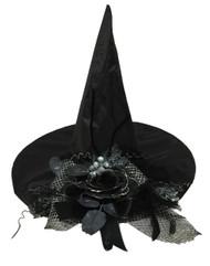 Witch Hat W/black Flower