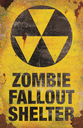 Metal Sign-zombie Fallout Shel