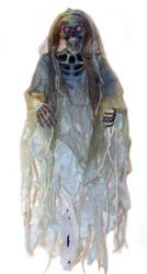Skeleton W Gauze Light Up Eyes