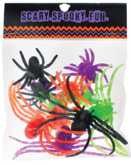 Spiders Plastic Asst Size 12pc