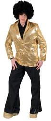 Disco Jacket Gold Adult Lg