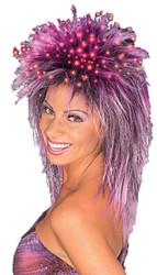 Fiber Optic Wig Purple