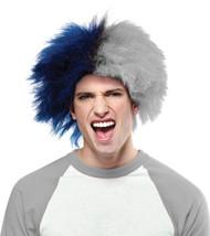 Sports Fun Wig Blue Silver
