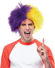 Sports Fun Wig Purple Gold