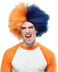 Sports Fun Wig Navy Blue Orang