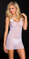 Chemise And Thong Plus Size - ML6972WTX