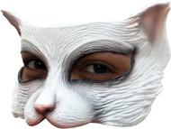Kitty White Latex Half Mask