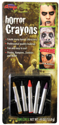 Makeup Crayons Horror Colors