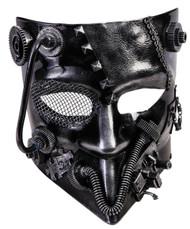 Steampunk Silver Jester Mask