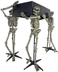 Skeleton Pall Bearers W/coffin