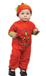 Pumpkin Jumpsuit 12 To 24 Mths