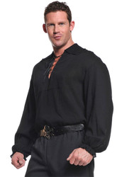 Pirate Shirt Adult Blk Xlarge