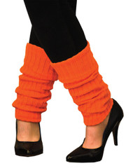 Leg Warmers Adult Neon Orange