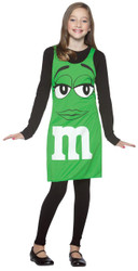 M&m Green Tank Dress Xs Teen