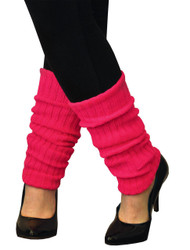 Leg Warmers Adult Neon Pink