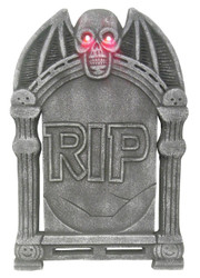 Tombstone Light Up Skull 24in