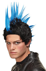 Wig Blue Punk Rocker
