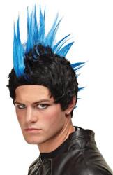 Wig Blue Punk Rocker