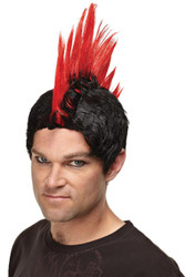 Wig Red Punk Rocker