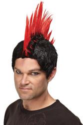 Wig Red Punk Rocker