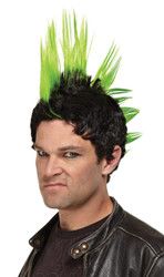 Wig Green Punk Rocker