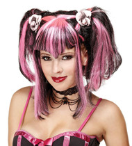 Wig Bad Fairy Black Pink