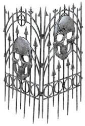Fence Silver Skull