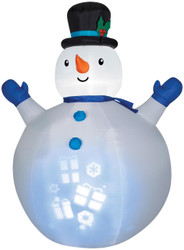 Projection Airblown Snowman