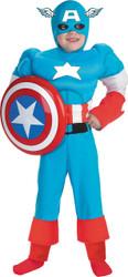 Capt America Dlx Muscle 7-8