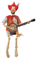 Clown Playing Banjo 39 In