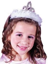 Tiara Marabou White Heart