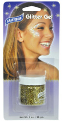 Glitter Gel Gold 1 Oz