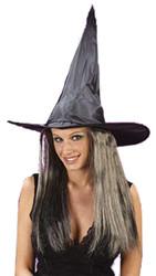 Witch Hat W Hair Taffeta