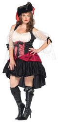 Wicked Wench Peasant Dress Blk - UA85157XX