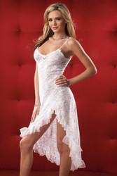 Gown And G String White One Sz