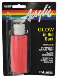 Glow Paint Red Acrylic 2 Oz