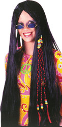 Wig Braided Hippie 33in Blk