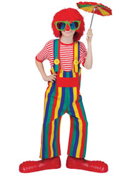 Striped Clown Overalls Ch Med